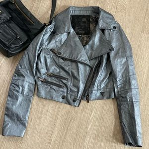 Guess Coated Moto Jacket